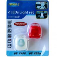 Набор Led фонариков для самоката и велосипеда 2 шт