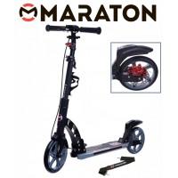 Самокат Maraton Dynamic Disc (2021) черный + Led фонарик
