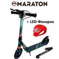Самокат Maraton Delta (2020) Зеленый + LED фонарик