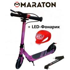 Самокат Maraton Delta (2020) Фиолетовый + LED фонарик