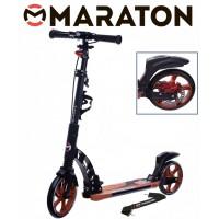Самокат Maraton Dynamic Disc (2021) оранжевый + Led фонарик