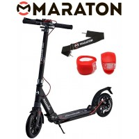 Самокат Maraton GMC Disc + LED фонарик (2020) Черно-серый
