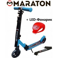 Самокат Maraton Sport 145 синий + Led фонарик (2021)