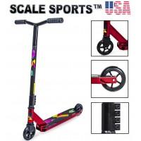 Самокат трюковый Scale Sports Leone 110 мм США красный
