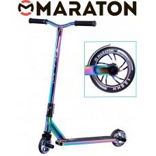 Самокат трюковый Maraton SubZero Неохром 2021+ Пеги 2 шт