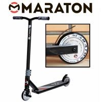Самокат трюковый Maraton Versa Черный (Литые колеса)