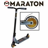 Самокат трюковый Maraton Versa Серебро (Литые колеса)