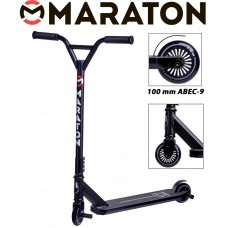 Самокат трюковый Maraton Extreme Черный (без пег)