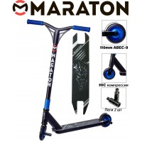 Самокат трюковый Maraton Scorpion Синий металлик 2021+ Пеги 2 шт