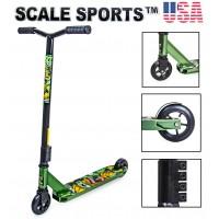 Самокат трюковый Scale Sports Leone 110 мм США зеленый