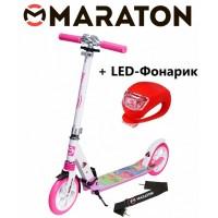 Самокат Maraton Sprint рисунок + Led фонарик