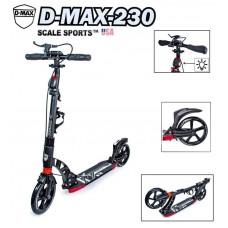 Самокат Scale Sports D-Max-230 USA черный ручной тормоз