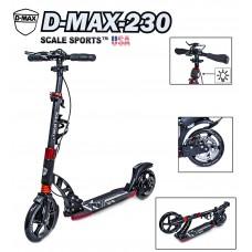 Самокат Scale Sports D-Max-230 USA черный, дисковый тормоз