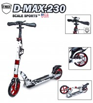Самокат Scale Sports D-Max-230 USA белый дисковый тормоз