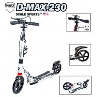 Самокат Scale Sports D-Max-230 USA белый ручной тормоз