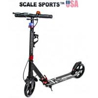 Самокат Scale Sports (ss-08) USA черный ручной тормоз