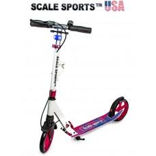 Самокат Scale Sports (ss-08) USA Бело-розовый Ручной тормоз