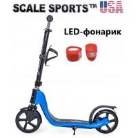 Самокат Scale Sports (ss-09) USA Синий + Led фонарик