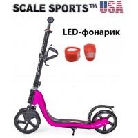 Самокат Scale Sports (ss-09) USA Розовый + Led фонарик