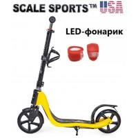 Самокат Scale Sports (ss-09) USA Желтый + Led фонарик