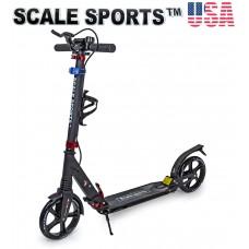 Самокат Scale Sports SS-10 черный 2021 + Led фонарик USA