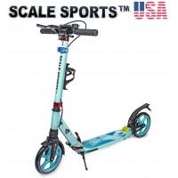Самокат Scale Sports SS-10 Тиффани 2021 + Led фонарик USA бирюзовый