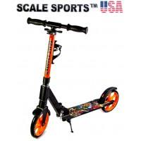 Самокат Scale Sports Elite (SS-15) Оранжевый + Led фонарик