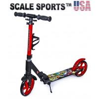 Самокат Scale Sports Elite (SS-15) красный + Led фонарик
