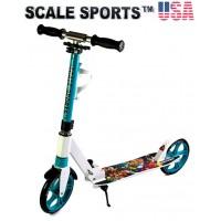 Самокат Scale Sports Elite (SS-15) тиффани + Led фонарик