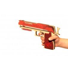 GummyGun деревянный пистолет (резиностріл)