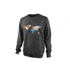 Свитшот On-The-Go Earth Continents dark grey S,M,L,XL