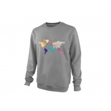 Свитшот On-The-Go Earth Continents Grey S,M,L,XL