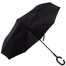Зонт-трость Atlas обратного сложения Черный