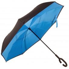 Зонт-трость Atlas обратного сложения Голубой