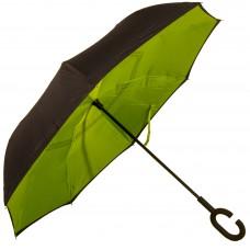 Зонт-трость Atlas обратного сложения Салатовый