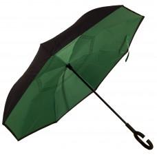 Зонт-трость Atlas обратного сложения Зеленый