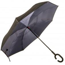 Зонт-трость Atlas обратного сложения Серый