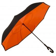 Зонт-трость Atlas обратного сложения Оранжевый