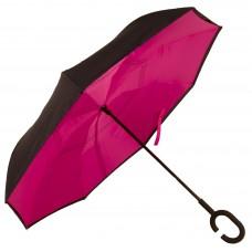 Зонт-трость Atlas обратного сложения Розовый