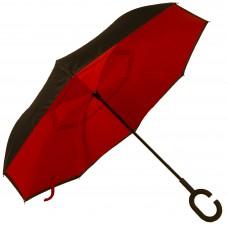 Зонт-трость Atlas обратного сложения Красный