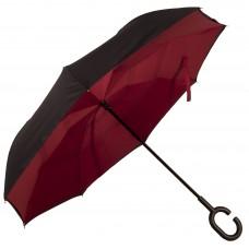 Зонт-трость Atlas обратного сложения Бордовый