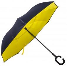 Зонт-трость Atlas обратного сложения Желтый