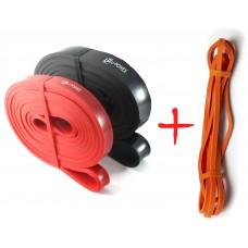 Комплект резинок для подтягиваний 3шт (power bands). U-Powex.