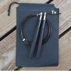 Скакалка скоростная Goods4u Metal Черная Jump Rope с подшипником