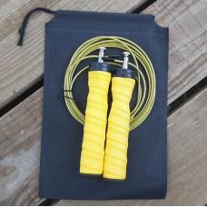 Скакалка скоростная полипропиленовая Goods4u Pro Желтая Jump Rope с подшипником