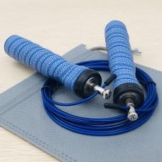Скакалка скоростная полипропиленовая Goods4u Pro Синяя Jump Rope с подшипником