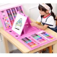 Набор для рисования Mega Art Set с мольбертом (176 предметов) Розовый
